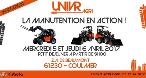 Kubota-2016-Invitation - La Manutention en action