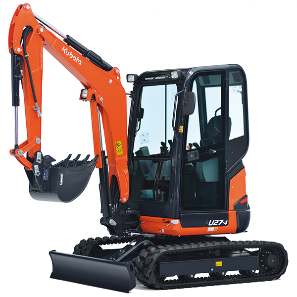 mini excavators kubota u27 4 kubota europe sas. Black Bedroom Furniture Sets. Home Design Ideas