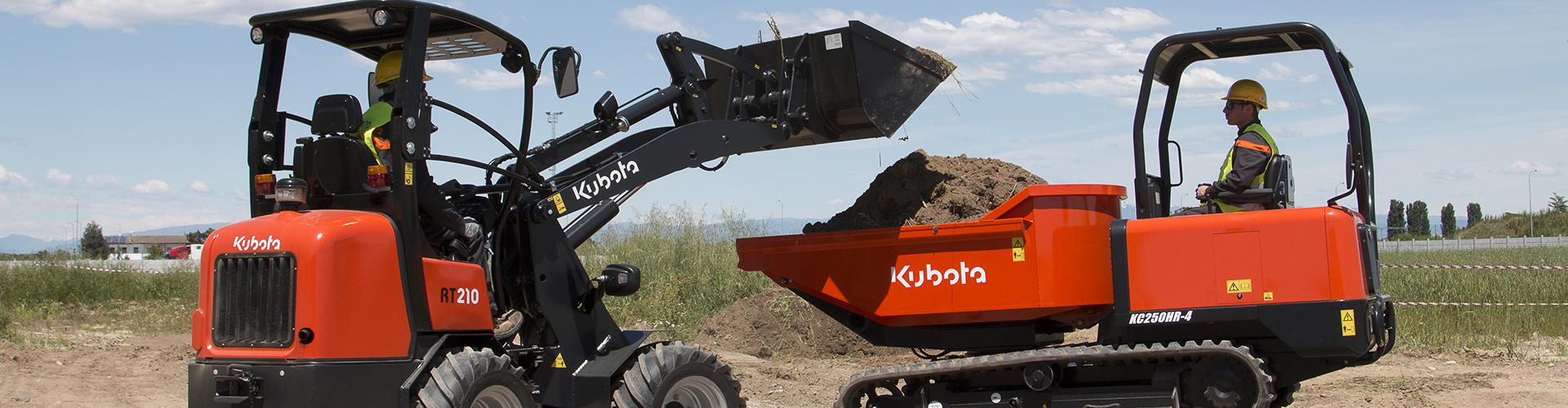 La gamme des chargeuses sur pneus Kubota