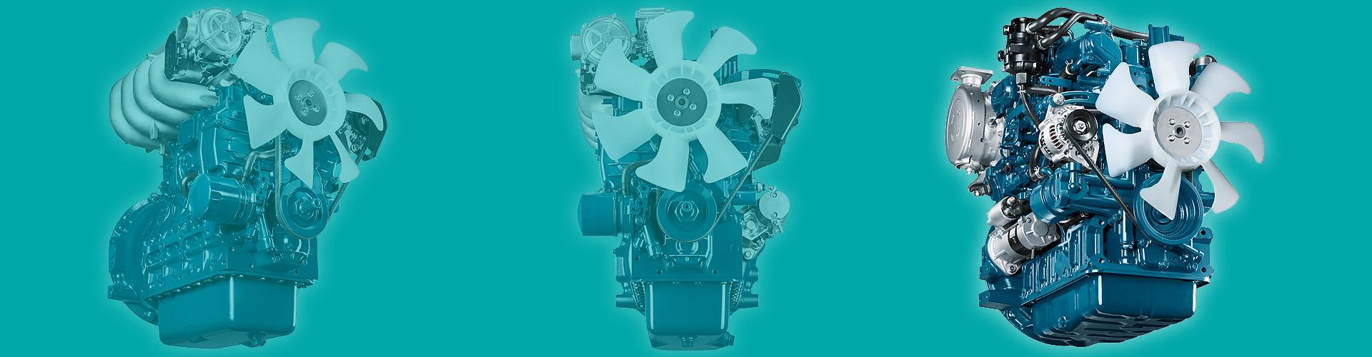 Dieselmotoren van industriële machines